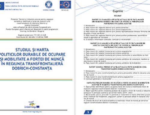 """""""Studiul si harta politicilor durabile de ocupare si mobilitate a fortei de munca in regiunea transfrontaliera Dobrich – Constanta"""""""