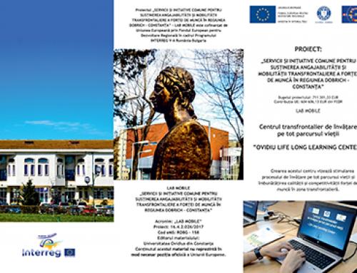Pliantul pentru promovarea Centrului de învățare continuă – Constanța